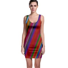 Color Stripes Pattern Sleeveless Bodycon Dress
