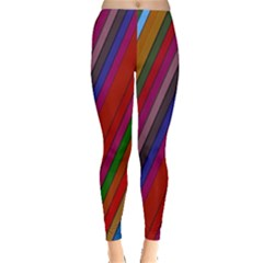 Color Stripes Pattern Leggings