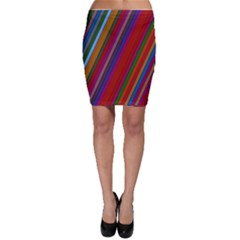 Color Stripes Pattern Bodycon Skirt