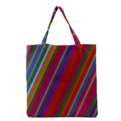 Color Stripes Pattern Grocery Tote Bag