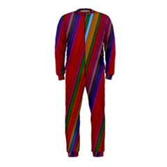 Color Stripes Pattern OnePiece Jumpsuit (Kids)