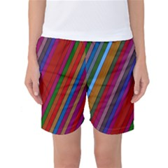 Color Stripes Pattern Women s Basketball Shorts