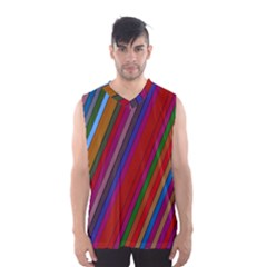 Color Stripes Pattern Men s Basketball Tank Top