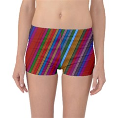 Color Stripes Pattern Boyleg Bikini Bottoms