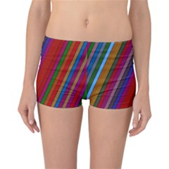 Color Stripes Pattern Reversible Bikini Bottoms