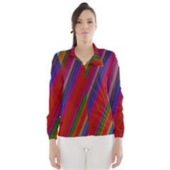 Color Stripes Pattern Wind Breaker (Women)