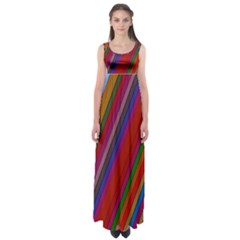 Color Stripes Pattern Empire Waist Maxi Dress