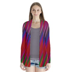 Color Stripes Pattern Cardigans