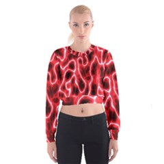 Pattern Background Abstract Women s Cropped Sweatshirt