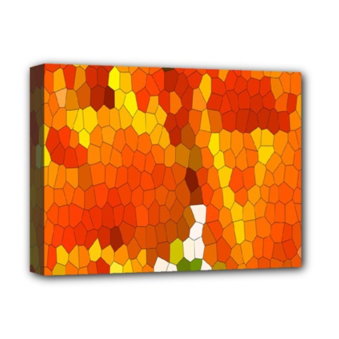 Mosaic Glass Colorful Color Deluxe Canvas 16  x 12