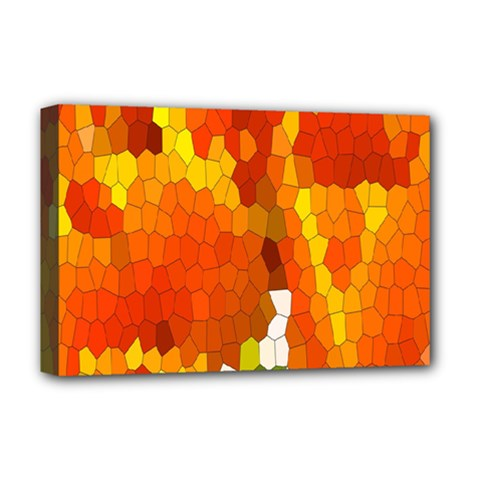 Mosaic Glass Colorful Color Deluxe Canvas 18  x 12