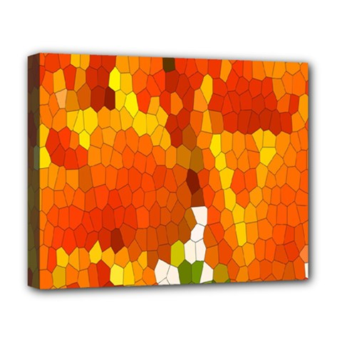 Mosaic Glass Colorful Color Deluxe Canvas 20  X 16