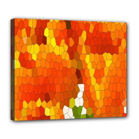 Mosaic Glass Colorful Color Deluxe Canvas 24  x 20