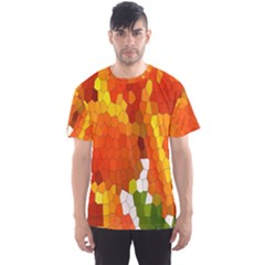 Mosaic Glass Colorful Color Men s Sport Mesh Tee