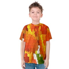 Mosaic Glass Colorful Color Kids  Cotton Tee