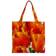 Mosaic Glass Colorful Color Grocery Tote Bag
