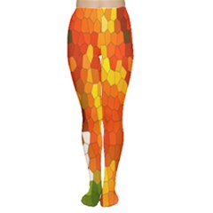 Mosaic Glass Colorful Color Women s Tights