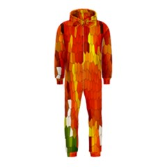 Mosaic Glass Colorful Color Hooded Jumpsuit (Kids)