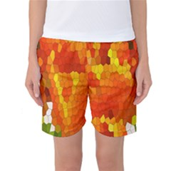 Mosaic Glass Colorful Color Women s Basketball Shorts