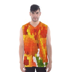 Mosaic Glass Colorful Color Men s Basketball Tank Top