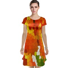 Mosaic Glass Colorful Color Cap Sleeve Nightdress