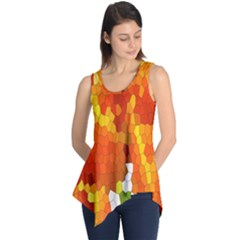 Mosaic Glass Colorful Color Sleeveless Tunic