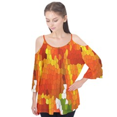 Mosaic Glass Colorful Color Flutter Tees