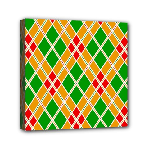 Colorful Color Pattern Diamonds Mini Canvas 6  X 6
