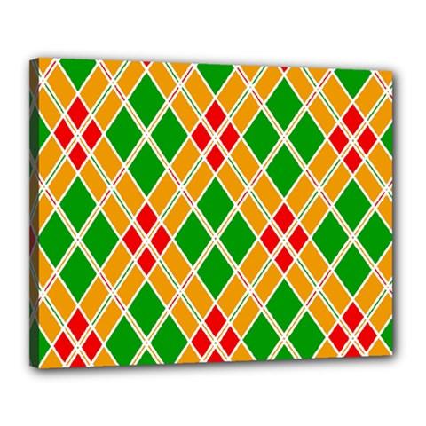Colorful Color Pattern Diamonds Canvas 20  X 16