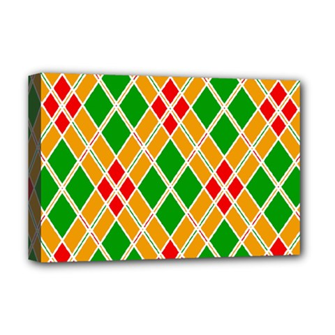 Colorful Color Pattern Diamonds Deluxe Canvas 18  x 12