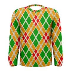 Colorful Color Pattern Diamonds Men s Long Sleeve Tee