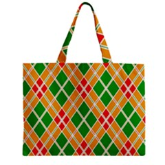 Colorful Color Pattern Diamonds Zipper Mini Tote Bag