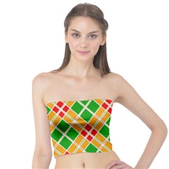 Colorful Color Pattern Diamonds Tube Top
