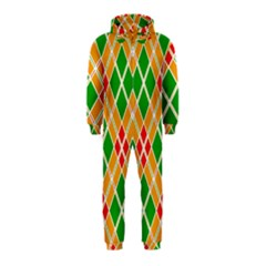 Colorful Color Pattern Diamonds Hooded Jumpsuit (Kids)