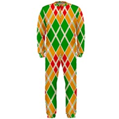 Colorful Color Pattern Diamonds OnePiece Jumpsuit (Men)