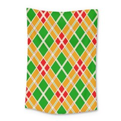 Colorful Color Pattern Diamonds Small Tapestry