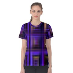 Background Texture Pattern Color Women s Cotton Tee