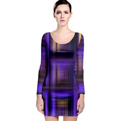 Background Texture Pattern Color Long Sleeve Bodycon Dress