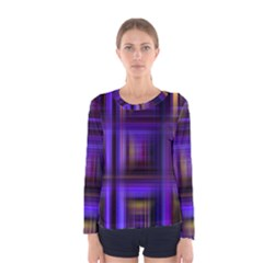 Background Texture Pattern Color Women s Long Sleeve Tee
