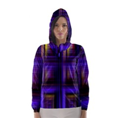 Background Texture Pattern Color Hooded Wind Breaker (women)