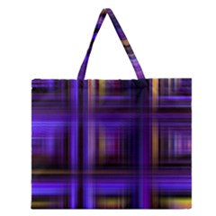 Background Texture Pattern Color Zipper Large Tote Bag