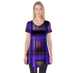 Background Texture Pattern Color Short Sleeve Tunic