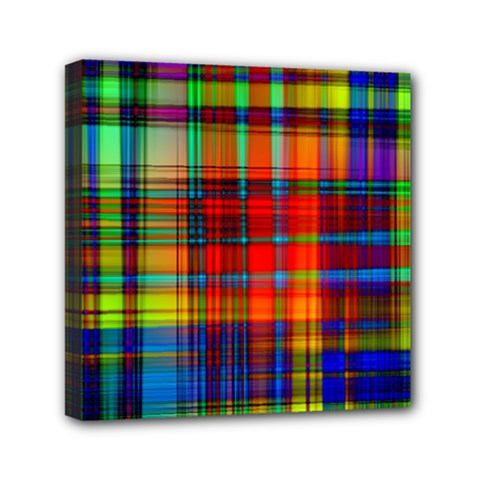 Abstract Color Background Form Mini Canvas 6  x 6