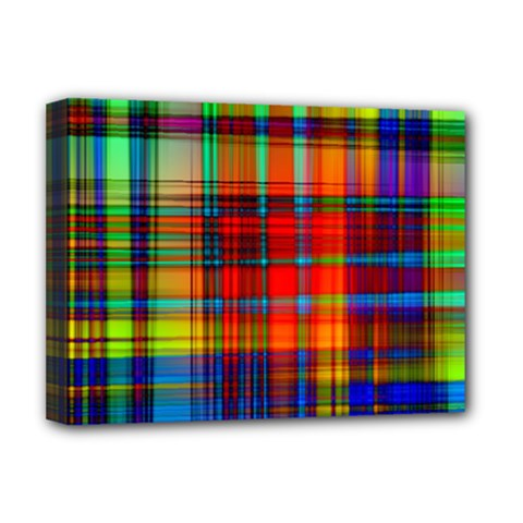 Abstract Color Background Form Deluxe Canvas 16  x 12