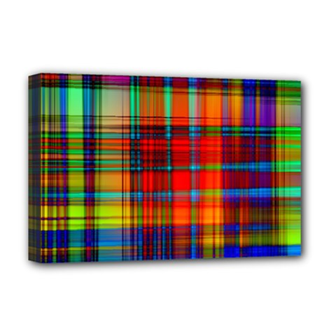 Abstract Color Background Form Deluxe Canvas 18  x 12