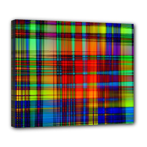 Abstract Color Background Form Deluxe Canvas 24  X 20