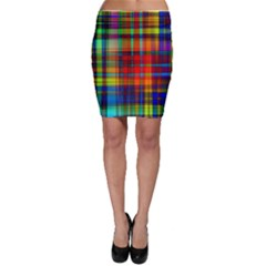 Abstract Color Background Form Bodycon Skirt