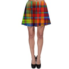 Abstract Color Background Form Skater Skirt