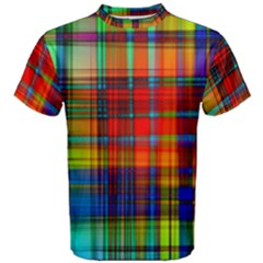 Abstract Color Background Form Men s Cotton Tee