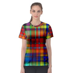 Abstract Color Background Form Women s Sport Mesh Tee